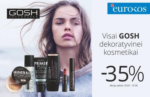 Visai GOSH dekoratyvinei kosmetikai nuolaida net -35%