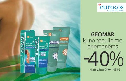GEOMAR kūno tobulinimo priemonėms nuolaida net -40%