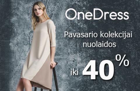 OneDress pavasario kolekcijai nuolaidos iki 40 proc.