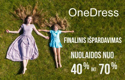 OneDress finalinis išpardavimas