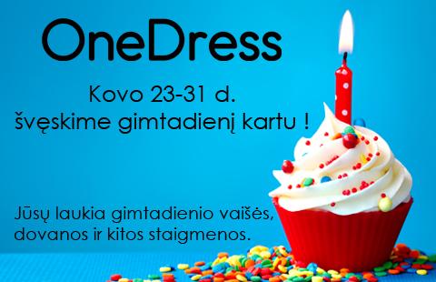 Švęskime OneDress gimtadienį kartu