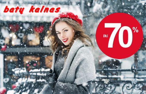 Nuolaidos rudens žiemos kolekcijai iki 70 %