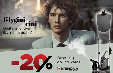 20% nuolaida drabužių garintuvams
