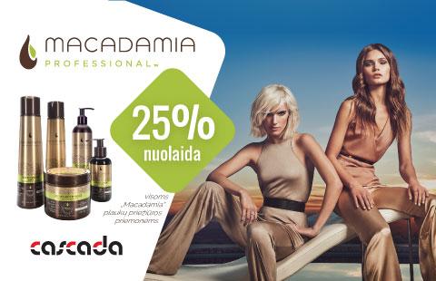 """Visai """"Macadamia"""" plaukų kosmetikai -25% nuolaida"""