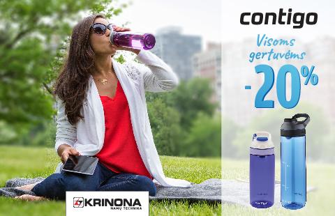Iki liepos 31 dienos Krinona parduotuvėje 20% nuolaida visoms Contigo gertuvėms!