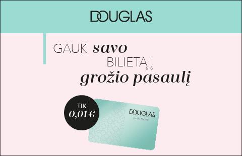 Lojalumo mėnesį Douglas lojalumo kortelė – tik 1 ct