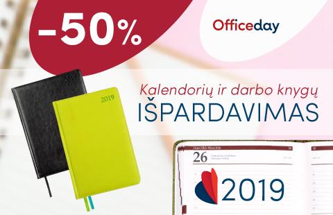 50 % nuolaida 2019 m. kalendoriams ir darbo knygoms!