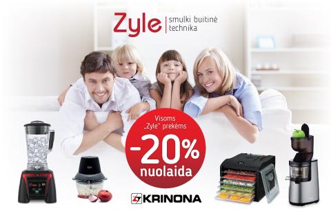 "Visoms ""Zyle"" prekėms 20% nuolaida"
