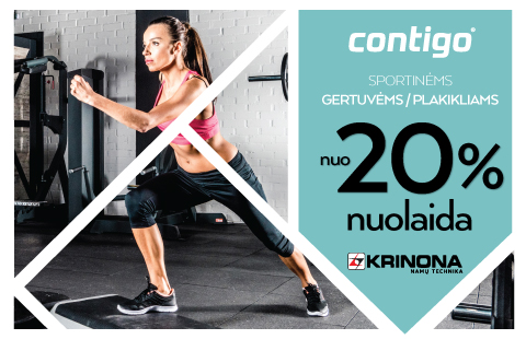 Iki rugpjūčio 31 dienos Krinona parduotuvėje  Contigo gertuvėms/plakikliams 25% nuolaida