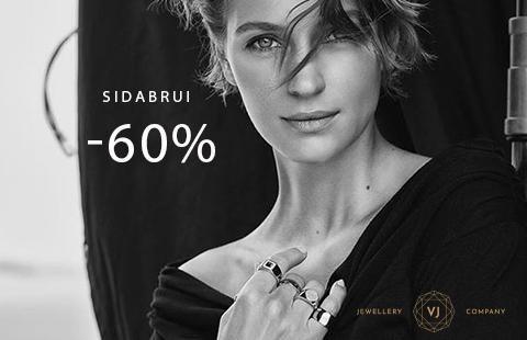 Sidabro papuošalams -60%