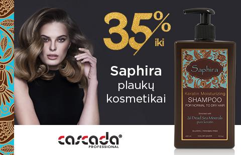 """Iki 35% nuolaida visai """"Saphira"""" plaukų kosmetikai"""