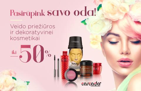Visai veido priežiūros ir dekoratyvinei kosmetikai iki -50% nuolaida