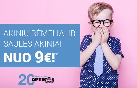 """""""Akinių rėmeliai ir saulės akiniai nuo 9€"""""""