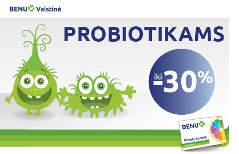 Probiotikams nuolaida iki 30%