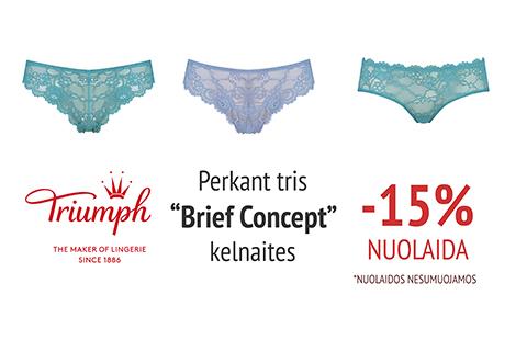 "Perkant 3 ""Brief Concept"" kelnaites -15% NUOLAIDA"