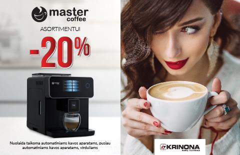 "20% nuolaida ""Master Coffee"" asortimentui"