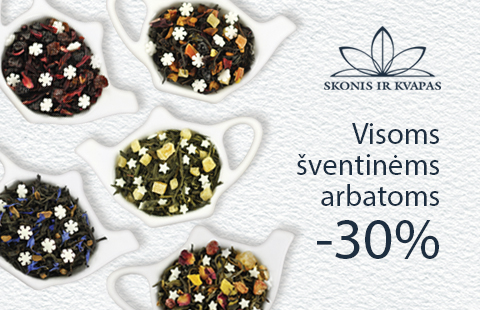 Šventinėms arbatoms -30%