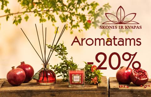 20% nuolaida Collines de Provence, Ipuro, Shoyeido produktams.