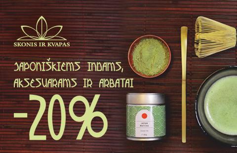 20% nuolaida Japoniškai arbatai ir aksesuarams