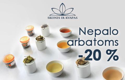 20% nuolaida Nepalo arbatoms