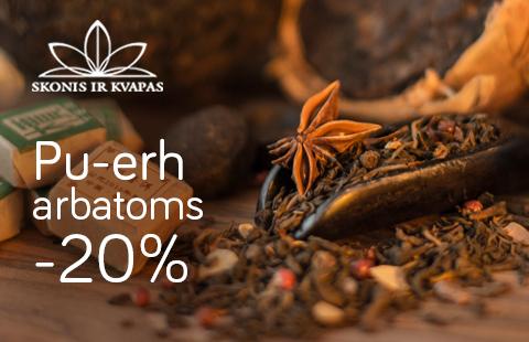 20% nuolaida Pu-erh arbatoms