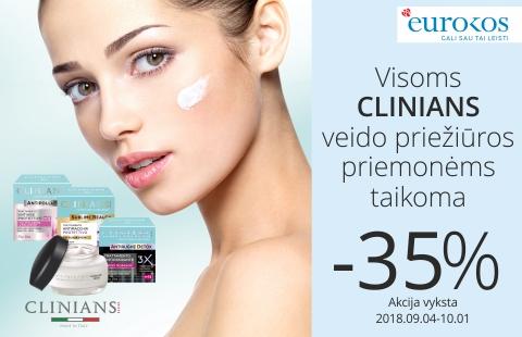 Nuolaidos CLINIANS veido priežiūros kosmetikai