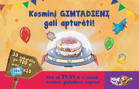 Kosminį gimtadienį gali apturėti!